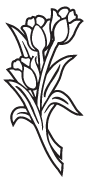 Clipart Image For Gravemarker Monument flower 59