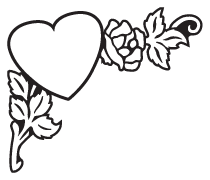 Clipart Image For Gravemarker Monument heart 03
