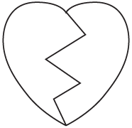 Clipart Image For Gravemarker Monument heart 08