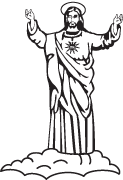 Clipart Image For Gravemarker Monument jesus 01