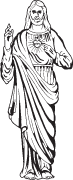 Clipart Image For Gravemarker Monument jesus 03