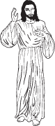 Clipart Image For Gravemarker Monument jesus 04
