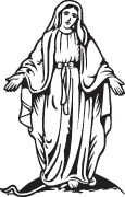 Clipart Image For Gravemarker Monument mary 01