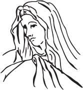 Clipart Image For Gravemarker Monument mary 08
