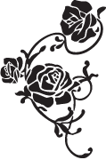 Clipart Image For Gravemarker Monument rose 01