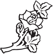 Clipart Image For Gravemarker Monument rose 04