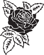Clipart Image For Gravemarker Monument rose 12