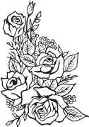 Clipart Image For Gravemarker Monument rose 13