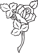 Clipart Image For Gravemarker Monument rose 14