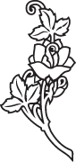 Clipart Image For Gravemarker Monument rose 21