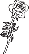 Clipart Image For Gravemarker Monument rose 23