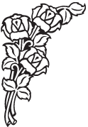 Clipart Image For Gravemarker Monument rose 25
