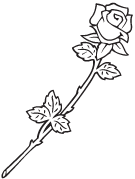 Clipart Image For Gravemarker Monument rose 27