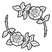 Clipart Image For Gravemarker Monument rose 28