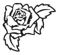 Clipart Image For Gravemarker Monument rose 29