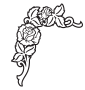 Clipart Image For Gravemarker Monument rose 31