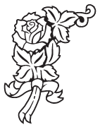 Clipart Image For Gravemarker Monument rose 32