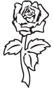 Clipart Image For Gravemarker Monument rose 36