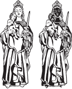Clipart Image For Gravemarker Monument saints 05