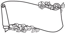 Clipart Image For Gravemarker Monument Scroll 04B